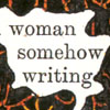 tadorna: (woman somehow writing)