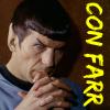 "larissabernstein: Closeup of Spock deep in plak tow, caption ""CON FARR"" (con farr)"