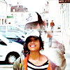 frigg: Angel Coulby with an adorable dorky grin, wearing baggy street clothes (Dorky grin Angel)