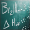 yvi: chemical equations on a blackboard (Science - Thermodynamics)