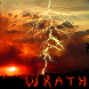 chazpure: red sky and lightning (mood - wrath)