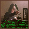 chazpure: snape writing pr0n at desk (snape writes pr0n)