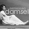 anghraine: leia in the death star cell; text: distressing damsel (distressing damsel)