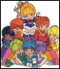 ambersweet: Rainbow Brite & the Color Kids on a white background (Rainbowland)