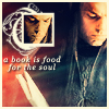 "independence1776: Movie!Elrond with a book, along with the words ""A book is food for the soul."" (Books are soul food.)"