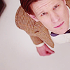 """the11th: The Doctor staring up into the """"camera"""" with a look of interest. (default)"""
