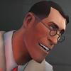 delphi: Smiling headshot of TF2's Medic. (Medic)