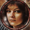 auronlu: Nyssa's face in a roundel. (Nyssa, Circular Time)