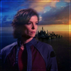 nonisland: Elizabeth Weir, against the Atlantis-on-the-ocean establishing shot ([SGA] Elizabeth & Atlantis)