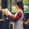 havocthecat: a pre-raphaelite is reading (pre-raphaelite reading)