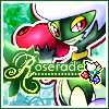 ameonna: A Pokémon that looks like a masked performer with roses for hands and atop her head. (roserade)