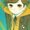 aguu: He's a small boy with brown hair, brown eyes and an orange jacket. (Ken Amada)