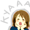 "aguu: Yui from K-on saying ""Kya!"" (Kya)"