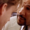 wordsatourbacks: close-up of meldrick leaning into mike, faces inches apart, mike with his chin tilted down—homicide: life on the street (troubled words of a troubled mind)