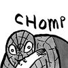 sixtylilies: spiderman taking a bite out of some innocent bystander's arm. (chomp)