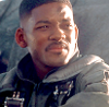 aaaaaaaagh_sky: Wil Smith looking smudged, wearing a pilot's uniform in Independence Day (Philly - Blood Prince)