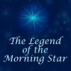 "elizabethmccoy: A blue star on a dark blue background, titled ""The legend of the morning star"" (Legend of the Morning Star)"