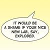 sholio: webcomic word balloon (Kismet-Frank threat)