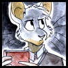 lilfluff: On of my RP characters, a mouse who happens to be a student librarian. (Librarian)