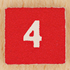 tree: the number 4 against a painted red background ([else] the iconoclast)