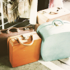 rising: pictures of four old style suitcases. (r: suitcases)