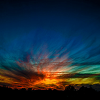 alexseanchai: Sunset in rainbow colors (baby steps, solstice sunset)