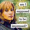 havocthecat: teyla emmagan is not impressed. (sga teyla not impressed)