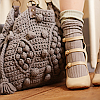 rubyprism: Pale pink heeled shoes and a grey crochet bag. (going forth cutely)