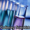 "apollymi: Test tubes with various coloured liquids in them, text reads ""Culinary Scientist"" (Stock: Culinary scientist!)"