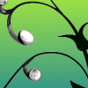 podfidic: a vine growing earbuds; black on green (earbuds) (Default)