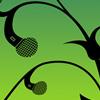 podfidic_mod: a vine growing microphones; black on green (Default)