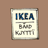 "sylleptic: Sign saying ""IKEA:  Baad Kjytti"" (comics; Get Fuzzy; Ikea)"