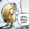 "sylleptic: Caveman:  ""Oww...brain hurt"" (comics; Non Sequitur; brain hurt)"