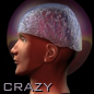 "darkemeralds: A man's head in profile with an aluminum foil hat and the caption ""Crazy"" (Tinfoil hat)"