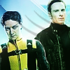 ysobel: Charles Xavier and Erik Lehnsherr, in X-men uniforms (xmfc - charles and erik)