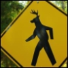 electrohead: A sign I found on FA that amused me. (Deerpeople crossing)