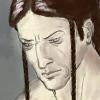 sleepyowlet: drawing of loghain, looking pensive (simple things loghain)