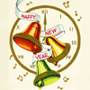 belle_meri: Ringing bells surrounded by confetti and ribbons captioned 'Happy New Year'. (Happy New Year)