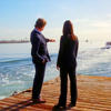 skieswideopen: Jane and Lisbon from behind, on a dock looking out at the water (Mentalist: Jane and Lisbon on dock)