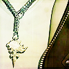 leonhart: close-up of squall wearing his griever chain (lions represent great strength & pride)