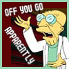 mel: professor farnsworth from futurama (off you go apparently)