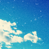 skywardprodigal: a cloudy and bright blue sky (blue skies)