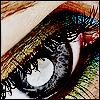 skywardprodigal: an eye made up with green and blue makeup (eye-an-eye)
