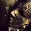 subjunctive: (gold mask)