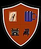 thecoffeehousethread: A shield containing a pen, coffee mug, fireplace, and a chair. (The CoffeeHouse logo)