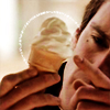 "annalee: Jarod from ""The Pretender"" poking at an ice cream cone. (Pretender Ice Cream)"
