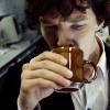 rensreality101: shot of sherlock from bbc series drinking tea (sherlock tea)
