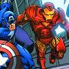 walkingshadow: iron man and captain america (we blaze away)