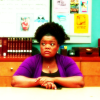 semielliptical: Shirley looking skeptical. (Community) (community)