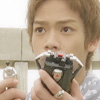 estirose: Gai holds his Gokai Cellular and Ranger Key and stares at Nakadai Mikoto (Gai wide-eyed - Kaizou Sentai Gokaiger)